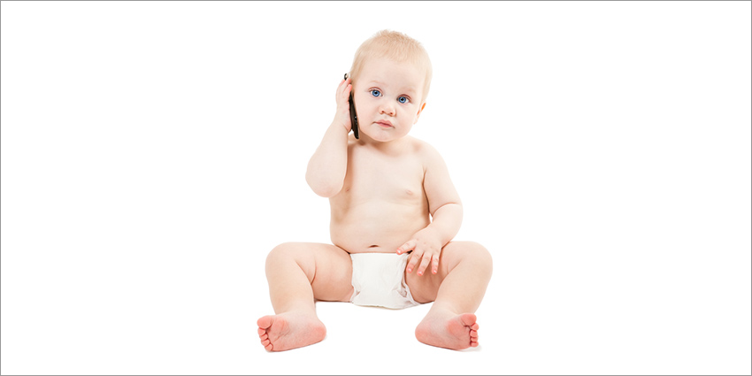 Baby with cellphone