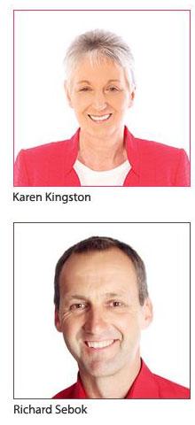 Karen Kingston and Richard Sebok