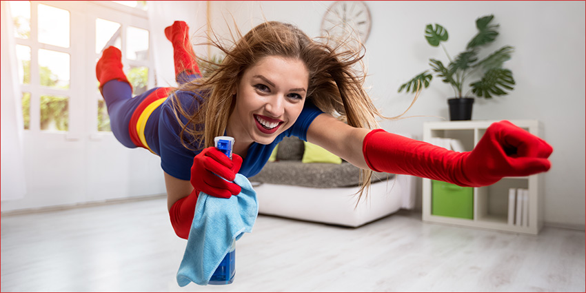 Wear red when clutter clearing