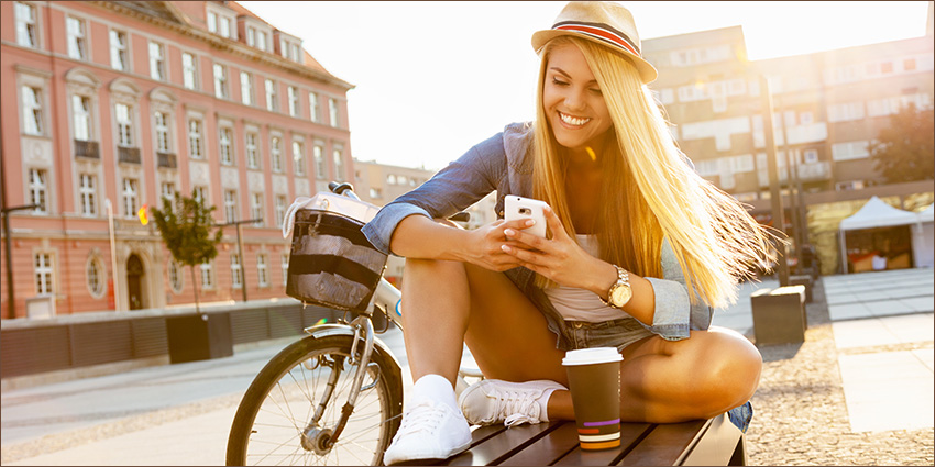 Social crutches - phone, coffee cup, hat