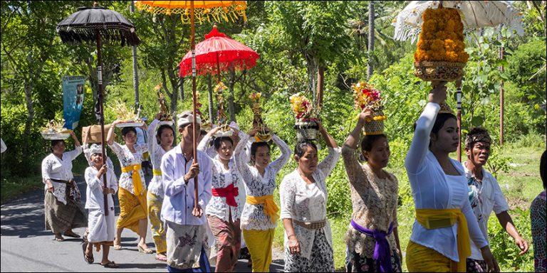 Temple procession in Bali